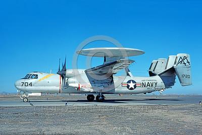 E-2USN-VAW-111 001 A taxing Grumman E-2 Hawkeye USN 151720 VAW-111 SEA BAT USS Forrestal NAS Fallon 3-1976 military airplane picture by Michael Grove, Sr       DONEwt copy