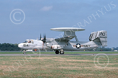 E-2USN 00123 A taxing Grumman E-2C Hawkeye USN 163849 VAW-120 GREYHAWKS NAS Oceana 10-1995 military airplane picture by Bill Winters