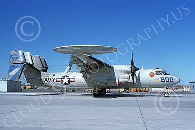 E-2USN 00145 A taxing Grumman E-2 Hawkeye USN 161552 VAW-121 BLUE TAILS USS George W Washington NAS Fallon 10-1993 military airplane picture by Michael Grove, Sr
