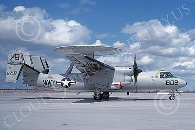 E-2USN 00141 A taxing Grumman E-2C Hawkeye USN 162797 VAW-123 SCREWTOPS USS America NAS Fallon 3-1993 military airplane picture by Michael Grove, Sr
