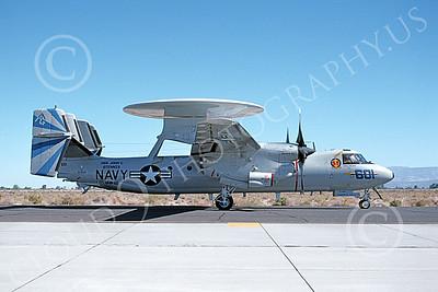E-2USN 00143 A taxing Grumman E-2 Hawkeye USN 163695 VAW-121 BLUE TAILS USS John C Stennis NAS Fallon 1993 military airplane picture by Michael Grove, Sr
