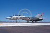 F-14USN-VF-11 0029 A taxing USN Grumman F-14 Tomcat jet fighter VF-11 RED RIPPERS NAS Fallon 7-1981 military airplane picture by Michael Grove, Sr