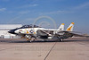 F-14USN-VF-21 0005 A static Grumman F-14 Tomcat USN jet fighter161608 VF-21 FREELANCERS USS Constellation NAS Miramar military airplane picture by Peter J Mancus