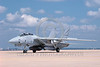 F-14USN-Generic 0007 A taxing low vis Grumman F-14 Tomcat USN jet fighter 8-1988 military airplane pictue by Carl E Porter