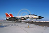 F-14USN-VF-31 0003 A taxing Grumman F-14 Tomcat USN jet fighter 161866 VF-31 TOMCATTERS USS Forrestal NAS Fallon 11-1985 military airplane picture by Michael Grove, Sr