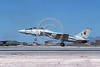 F-14USN-VF-11 0026 A landing USN Grumman F-14 Tomcat jet figher 159438 VF-11 RED RIPPERS Nellis AFB 9-1984 military airplane picture by Michael Grove, Sr