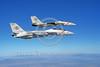 F-14USN-VF-102 0002 Two flying Grumman F-14 Tomcats USN 161285 VF-102 DIAMONDBACKS USS America 10-1983 military airplane picture by Robert L Lawson