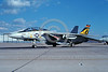F-14USN-VF-21 0007 A static colorful Grumman F-14 Tomcat USN 161603 VF-21 Freelancers CAG USS Independence NAS Miramar 1-1991 military airplane picture by Michael Grove, Sr 2