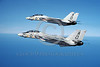 F-14USN-VF-101 0044 Two flying Grumman F-14 Tomcats USN 161281 VF-101 GRIM REAPERS military airplane picture by Robert L Lawson