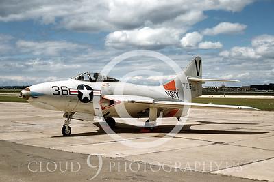 F9-USN 00001 Grumman F9 Cougar by Warren D Shipp