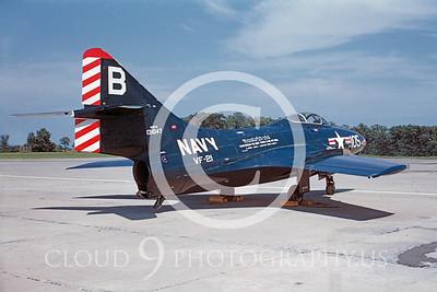 F9USN 00003 Grumman F9F-6 Cougar VF-21 Dayton 1954 Warren D Shipp