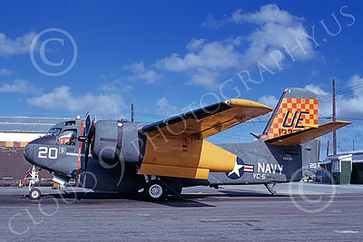S-2USN 00015 A static Grumman US-2C Tracker USN 133351 VC-5 CHECKERTAILS NAF Naha 8-1973 military airplane picture by Ken Alexander