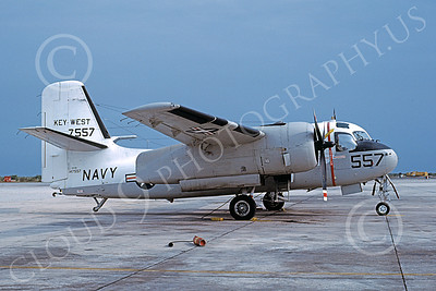 S-2USN 00025 A static Grumman US-2B Tracker USN 147557 KEY WEST NAS Key West 4-1979 military airplane picture by Michael Grove, Sr