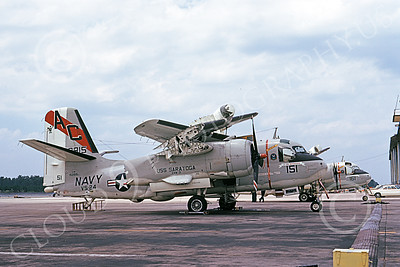 S-2USN 00037 A static Grumman S-2G Tracker USN 152815 VS-24 DUTY CATS USS Saratoga NAS Jax 7-1974 military airplane picture by L B Sides