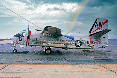 S-2USN-VS-39 001 A static Grumman S-2D Tracker, USN Cold War era carrier based anti-submarine warfare, aircraft, 148751, VS-39 HOOT OWLS USS Essex, 5-1963, military airplane picture by Clay Jansson     Dwt