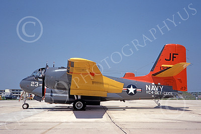 S-2USN 00013 A static Grumman US-2C Tracker USN 133359 VC-4 NAS Cecil Field 3-1967 military airplane picture by Duane A Kasulka