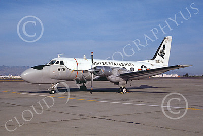 TC-4CUSN 00033 A static Grumman TC-4C USN 155724 VA-42 GREEN PAWNS NAS Moffett 6-1976 military airplane picture by Michael Grove, Sr