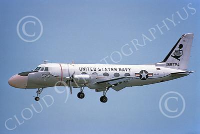 TC-4CUSN 00032 A landing Grumman TC-4C USN VA-42 GREEN PAWNS 5-1980 military airplane picture by Michael Grove, Sr