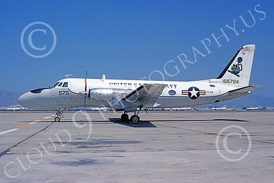TC-4CUSN 00041 A static Grumman TC-4C USN VA-42 NAS Moffett 6-1976 airplane picture by Michael Grove, Sr