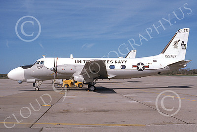 TC-4CUSN 00035 A static Grumman TC-4C USN 155727 VA-42 GREEN PAWNS 6-1994 military airplane picture by Michael Grove, Sr