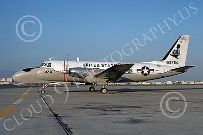 TC-4CUSN 00039 A static Grumman TC-4C USN 155724 VA-42 GREEN PAWNS NAS Moffett 6-1976 airplane picture by Michael Grove, Sr