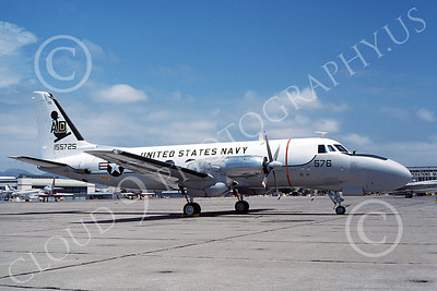 TC-4CUSN 00037 A static Grumman TC-4C USN 155725 VA-42 GREEN PAWNS NAS Alameda 7-1976 military airplane picture by Michael Grove, Sr