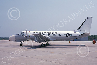 TC-4CUSN 00031 A static Grumman TC-4C USN 5-1980 airplane picture by Ray R Leader