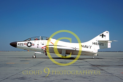 TF-9 00001 Grumman NTF-9J Cougar 21 Sept 1968 by Clay Jansson