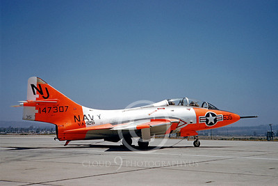 DG 00022 Grumman F9F-8T Cougar US Navy 147307 VA-126 July 1960 by Clay Jansson