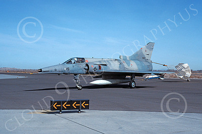 F-21-USN 00015 A taxing Israeli Aircraft F-21 Kfir jet fighter USN 999710 VF-43 CHALLENGERS NAS Fallon 3-1988 military airplane picture by Michael Grove, Sr