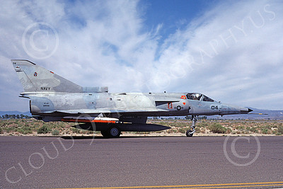 F-21-USN 00021 A taxing Israeli Aircraft F-21 Kfir jet fighter USN 999786 VF-43 CHALLENGERS NAS Fallon 6-1987 military airplane picture by Michael Grove, Sr
