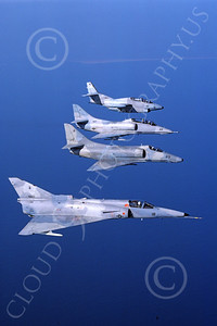 F-21-USN 00004 A flying Israeli Aircraft F-21 Kfir jet fighter USN VF-43 CHALLENGERS 9-1986 military airplane picture by Darren Sutherland