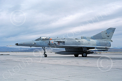 F-21-USN 00009 A taxing Israeli Aircraft F-21 Kfir jet fighter USN 999791 VF-43 CHALLENGERS NAS Fallon 6-1987 military airplane picture by Michael Grove, Sr