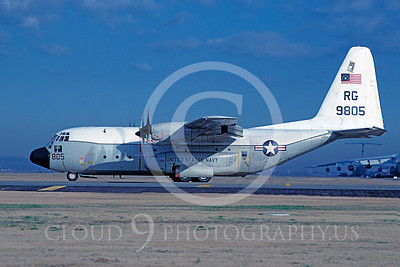 C-130USN 00013 Lockheed C-130 Hercules US Navy 9805 RG VRC-50 BICENTENNIAL Yokota Air Base 3 November 1979 by Matsumi Wada