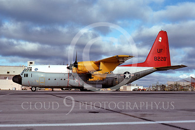 C-130USN 00005 Lockheed DC-130 Hercules US Navy 8228 UF VC-3 NAS North Island 11 October 1975 by Peter B Lewis