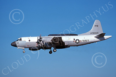 EP-3USN 00070 A landing Lockheed EP-3E Aries II USN 149669 VQ-1 WORLD WATCHERS PR code 8-1978 military airplane picture by Michael Grove, Sr