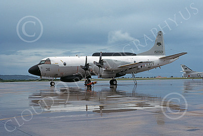 EP-3USN 00049 A static Lockheed EP-3E Aries II USN 150501 VQ-1 WORLD WATCHERS PR code Agana 7-1984 military airplane picture by Tom Chee