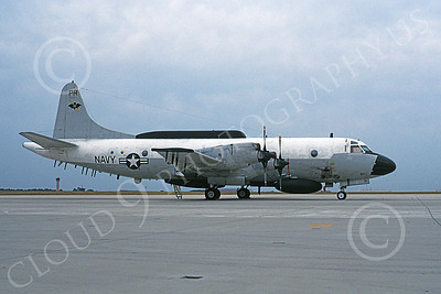 EP-3USN 00051 A static Lockheed EP-3E Aries II USN 156507 VQ-1 WORLD WATCHERS 9-1995 military airplane picture by Michael Grove, Sr