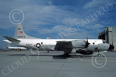 EP-3USN 00013 A static Lockheed EP-3A Orion USN 149674 NRL NAS Moffett 12-1975 military airplane picture by Michael Grove, Sr