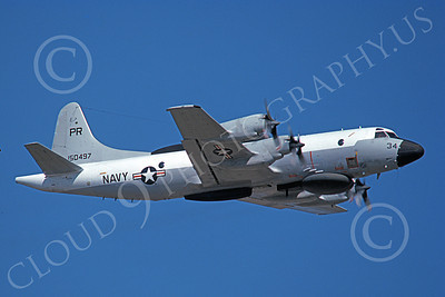EP-3USN 00062 A flying Lockheed EP-3E Aries II USN 150497 VQ-1 WORLD WATCHERS PR code 4-1977 military airplane picture by Michael Grove, Sr