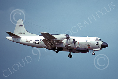 EP-3USN 00072 A landing Lockheed EP-3E Aries II USN 149678 VQ-1 WORLD WATCHERS PR code 8-1980 military airplane picture by Michael Grove, Sr