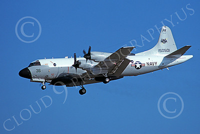EP-3USN 00054 A landing Lockheed EP-3 Aries II USN 150501 VQ-1 WORLD WATCHERS PR code 7-1981 military airplane picture by Toshiki Kudo