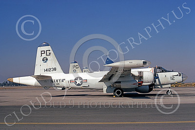 P-2USN 00049 A static Lockheed SP-2H Neptune USN 141238 VP-65 TRIDENTS NAS Pt Mugu 10-1973 military airplane picture by Michael Grove, Sr