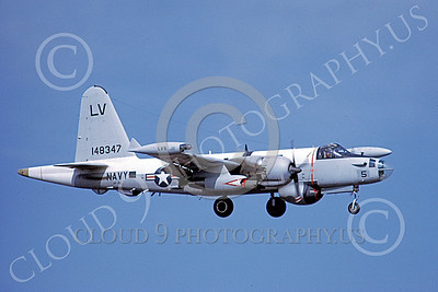 P-2USN 00060 A landing Lockheed SP-2H Neptune USN 148347 VP-66 THE LIBERTY BELLS 3-1971 military airplane picture by Michael Grove, Sr