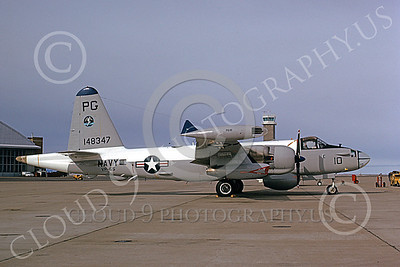 P-2USN 00047 A static Lockheed SP-2H Neptune USN 148347 VP-65 TRIDENTS NAS Pt Mugu 3-1974 military airplane picture by Michael Grove, Sr