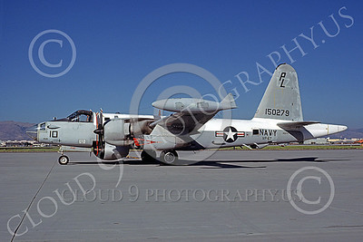 P-2USN 00065 A static Lockheed SP-2H Neptune USN 145915 VP-67 GOLDEN HAWKS NAS Moffett 7-1980 military airplane picture by Michael Grove, Sr