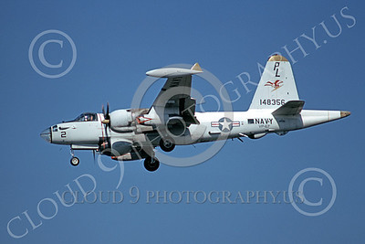 P-2USN 00068 A landing Lockheed SP-2H Neptune USN 148356 VP-67 GOLDEN HAWKS 8-1973 military airplane picture by Michael Grove, Sr