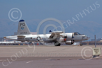 P-2USN 00045 A taxing Lockheed SP-2H Neptune USN 148347 VP-65 TRIDENTS NAS Pt Mugu 1-1976 military airplane picture by Michael Grove, Sr