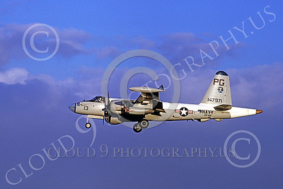 P-2USN 00040 A Lockheed P-2J Neptune USN 147971 VP-65 TRIDENTS 3-1974 military airplane picture by Michael Grove, Sr