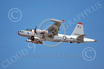 P-2USN 00070 A flying Lockheed SP-2H Neptune USN 148362 VP-69 TOTEMS PJ code 8-1975 military airplane picture by Michael Grove, Sr